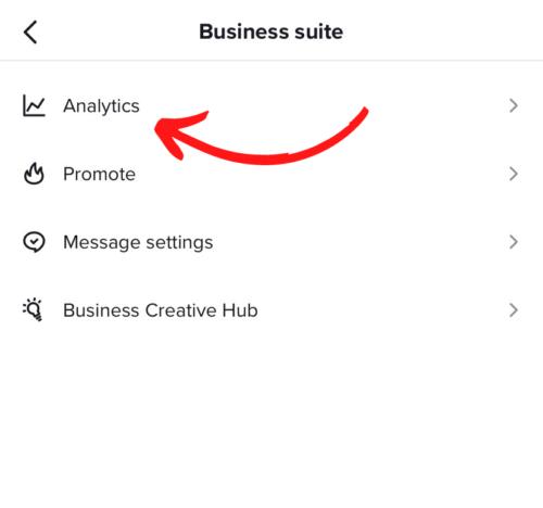 TikTok business suite settings