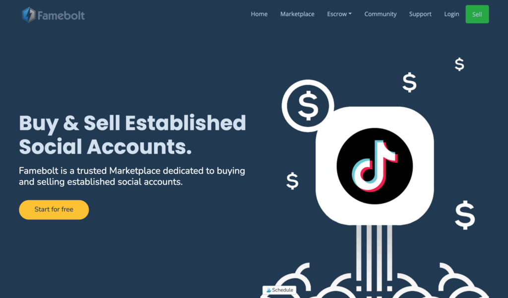 Famebolt is a similar website where you can use escrow services to locate relevant TikTok accounts.